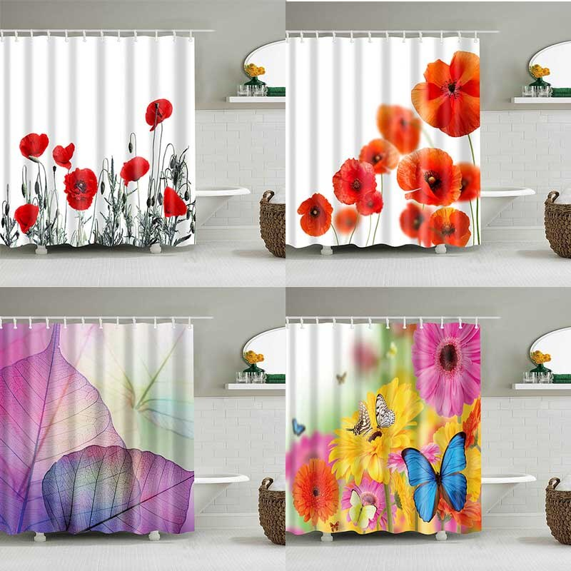 Get Naked Letter Polyester Waterproof Bathroom Fabric Shower Curtain 12 Hook