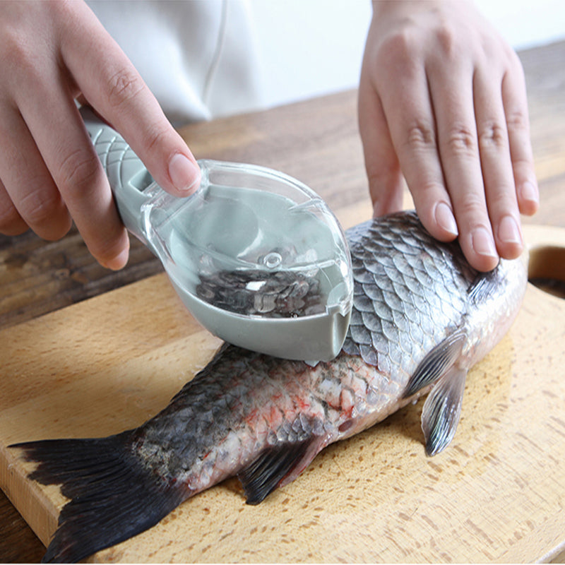 Home Kitchen Tools Fish Scaler Remover Kitchen Scale Planer Fish Skin Brush Scraping Scale Graters Fast Remove Knife Peeler Tool