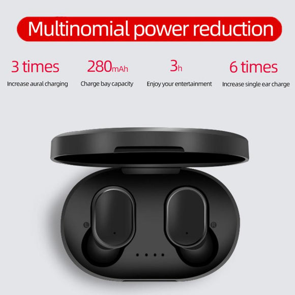 A6S Wireless Earphone Sports Earbuds Bluetooth 5.0 TWS Earphone Headsets For Mobile Phone Tablet Notebook For Xiaomi Huawei