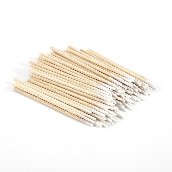 100pcs Cotton Swab Health Makeup Cosmetics Ear Clean Cotton Swab Pointed Head Abacterial Dental Accessories