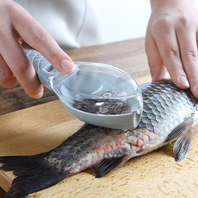 Fish Scale Brush Scraper Kitchen Cooking Gadget Scraping Brush Fishing Tool Accessories Peeler Quick Cleaning Fish Skin Remover