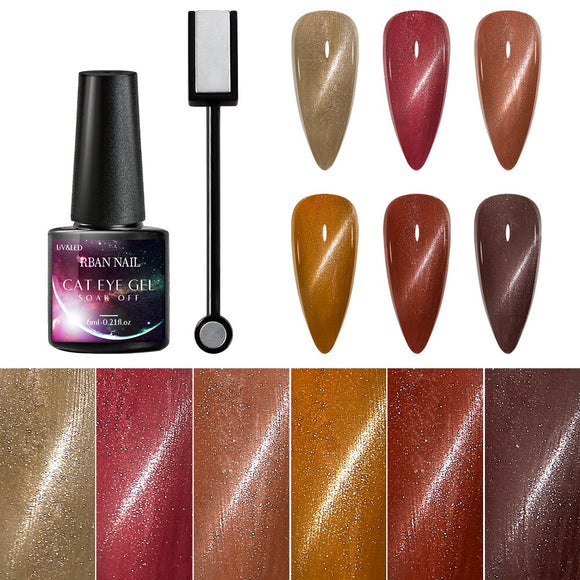 Cat Eye Magnetic Gel Polish Varnishes Hybrid Nails For Nail Art Design Manicure Magnet Strong Effect Cat Eyes Soak off UV Gel