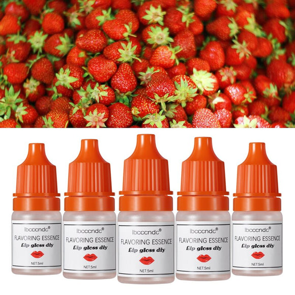 5ml Strawberry Flavor Essence for Handmade Cosmetic Lip Gloss Base Lipgloss DIY Food Grade Fragrance Flavoring Essential oil