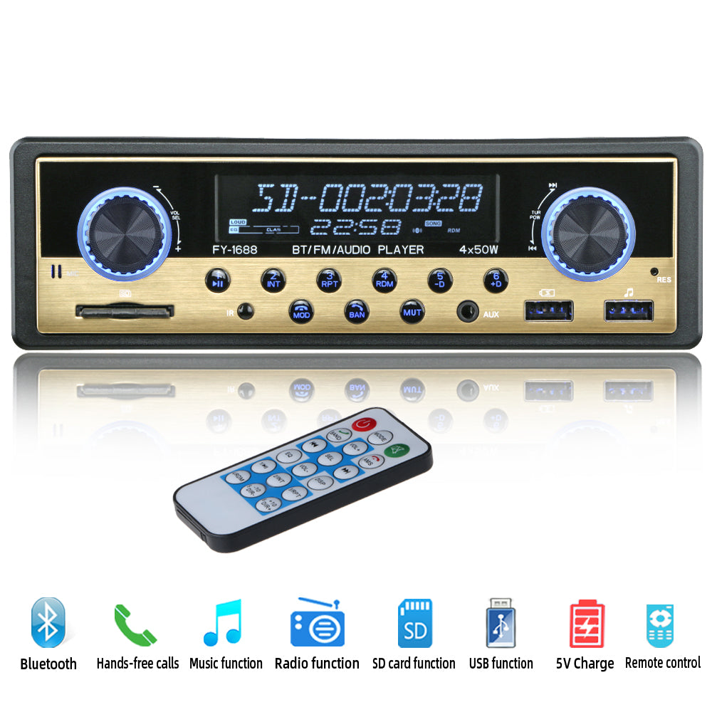 Autoradio 1 din Car Radio Coche Bluetooth Stereo Audio FM Receiver USB SD AUX Autostereo MP3 Multimedia Player Auto Electronics