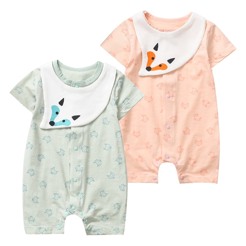 Long Sleeve Cotton Rompers for Baby Girls Boys Soft Retro Style Costa Rica Silhouette Playsuit