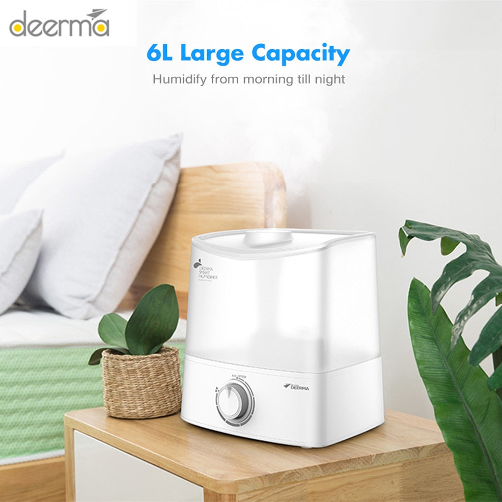 Deerma DEM-F625 6L Ultrasonic Air Humidifier Aroma Air Diffuser Essential Oil Aromatherapy Mist Maker Humidification For Home