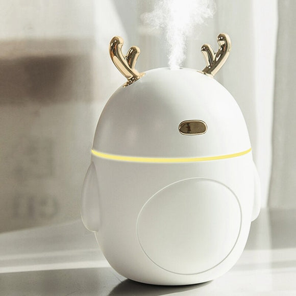 Lovely Deer Air Humidifier USB Ultrasonic Cool Mist Maker Fogger LED Light Mini Aroma Diffuser Essential Oil Humificador