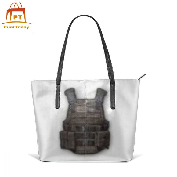 Level 3 Pubg Handbag Untitled Top-handle Bags Womens Pattern Leather Tote Bag Shopper Teenage Trend Oversized Women Handbags