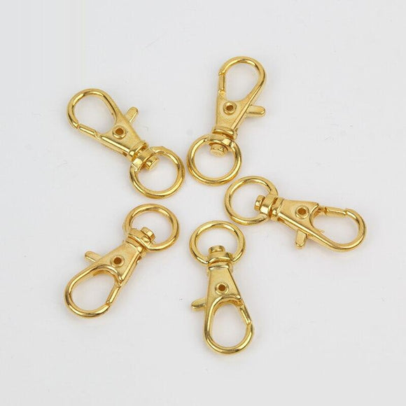 Golden Key Ring Stainless Steel Key Ring DIY Ladies Men's General Jewelry Making Accessories Split Key Chain