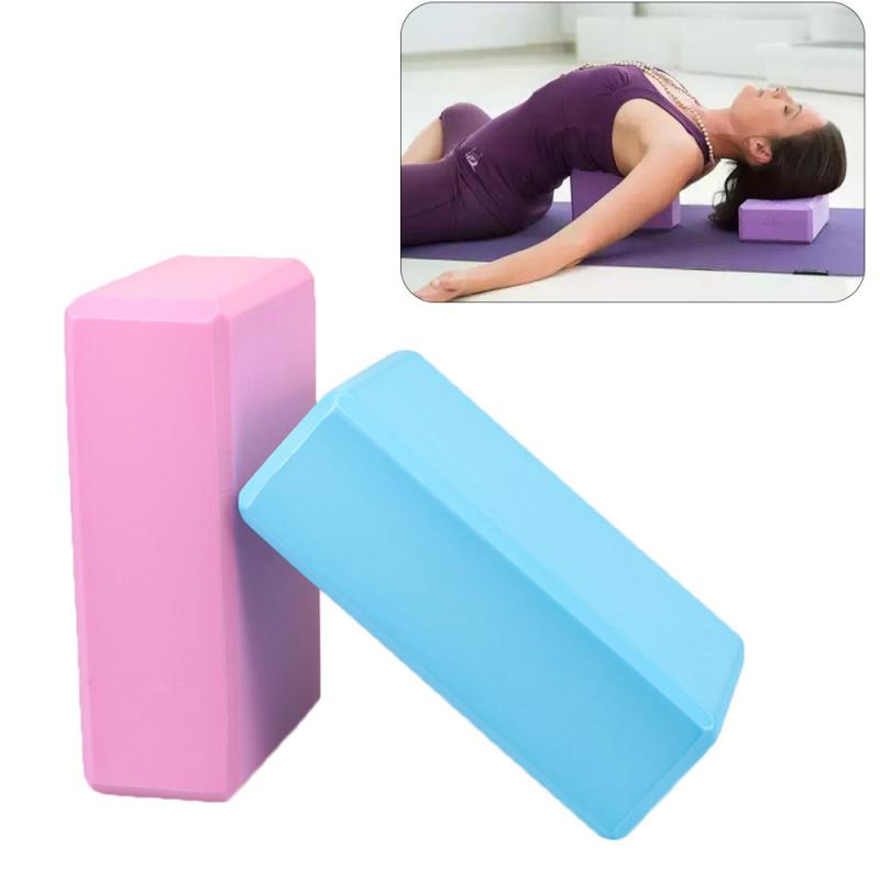 EVA Yoga Block Brick Foaming Foam Home Exercise Fitness Health Gym Practice Tool Aid Gym Pilates Workout Stretching Yoga Props