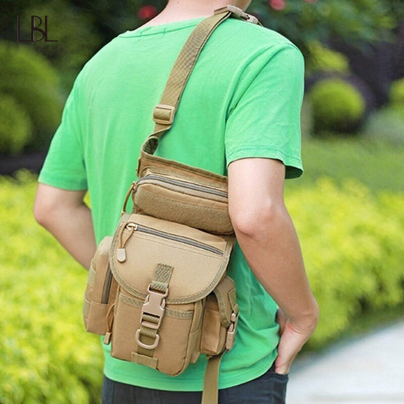 Outdoor Tactical Waist Bag Drop Leg Bags Tool Fanny Camping Hiking Trekking Military Shoulder Saddle Nylon Multi-function Pack