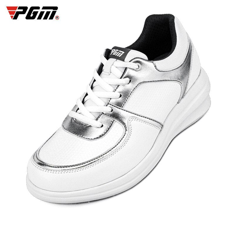 Pgm Women Height Increasing Golf Shoes Waterproof Lightweight Golf Sneakers Woman Spikes Anti-slip Trainers New Arrival D9105