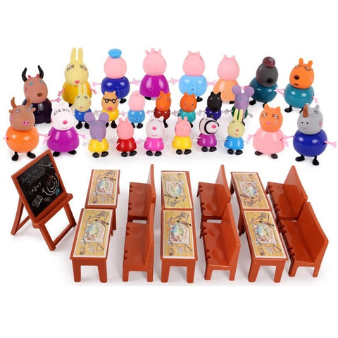 PEPPA PIG MINI FIGURE PACK PLAYSET FAMILY /& FRIENDS CUTE TOY COLLECTION 25 PIECE