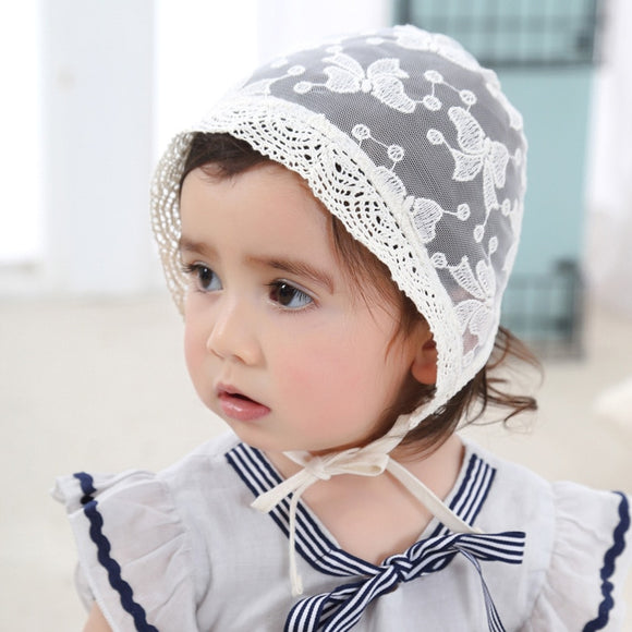 Baby Spanish Lolita Lace hat summer infant caps toddler palace princess pom hats photography props turban for girls Court style
