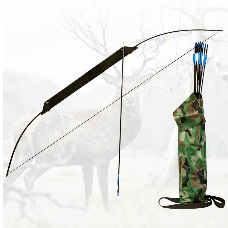 30/40/50lbs  Archery Folding Survival Bow Takedown Recurve Bow With Arrows Quiver for Outdoor Hunting Shooting Cs Game