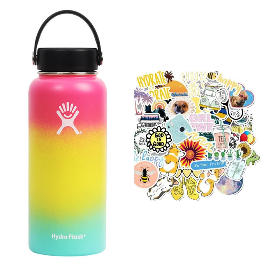 Stainless Steel Water Bottle Thermos Hydro Flask Outdoors Sports Wide Mouth Vacuum Insulated Thermal Tumbler Bottle Hydro Flask
