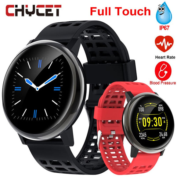 2019 Smart Watch Men Women Blood Pressure Full Touch Screen Smartwatch Women Waterproof IP68 Heart Rate Watches For Android IOS