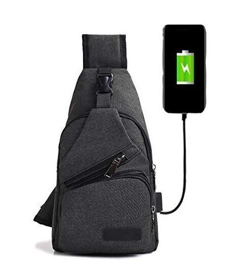 Male Shoulder Bags USB Charging Crossbody Bags Men Anti Theft Chest Bag School Travel Short Trip Messengers Bag
