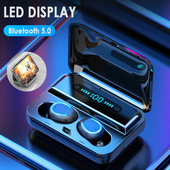 IMIDO LED Digital Display Wireless Bluetooth Earphone Waterproof Sport Music Headset Super Bass Gaming Earbuds For IOS Android