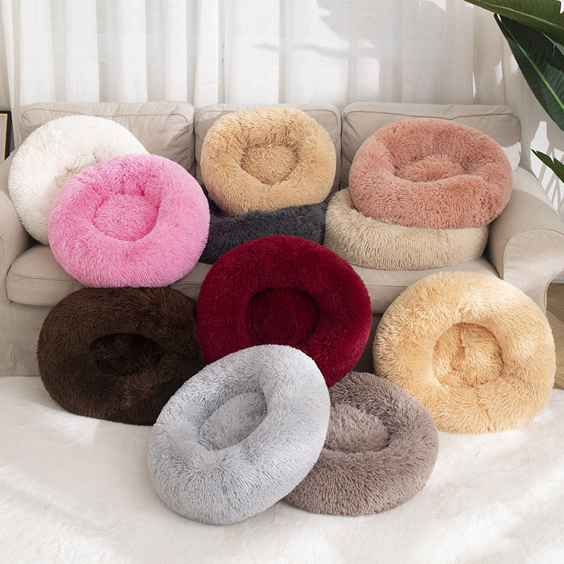 Dog Bed Winter Warm Long Plush Sleeping Beds Soild Color Soft Pet Dogs Cat Mat Cushion Dog bed / Cat bed Dropshipping