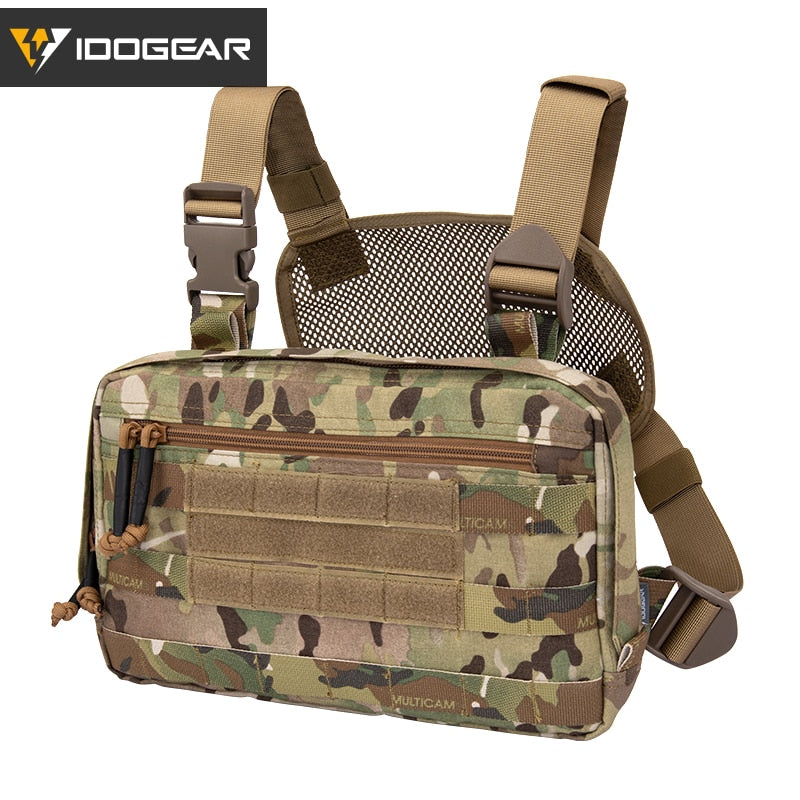 IDOGEAR Tatcical Bag Chest Recon Bag  Chest Rig MOLLE Shoulder Bag Multi-Purpose Military Combat EDC Pouch 3537
