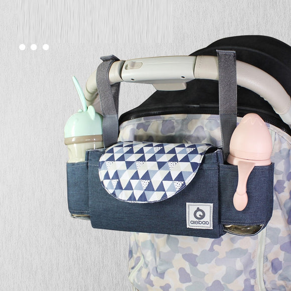 New Baby Stroller Organizer Hanging Bag Large Capacity Bottle Storage Bag Hook Mummy Travel Nappy Bags Stroller Accessories