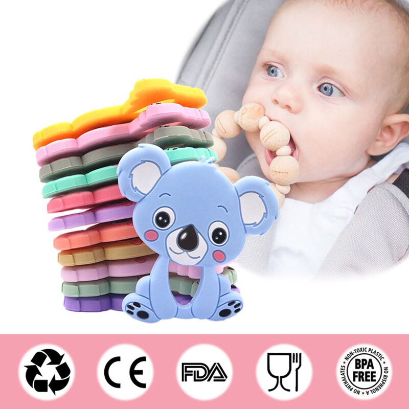 Baby Silicone Beads Wooden Teehing Rings Wooden Beads Toddler teether Toy DIY Nursing Necklace Silicone Tortoise Pendant Blue Series Toddler Rattle and Teether Organic