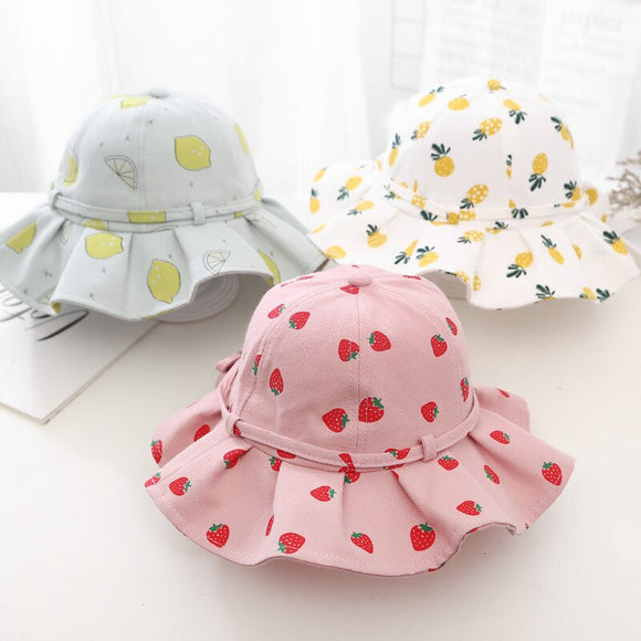 Floral Baby Hat Newborn Baby Girl Hat Beach Bucket Cap Spring Children Kids Girls Summer Hat Infant Toddler Sun Ha