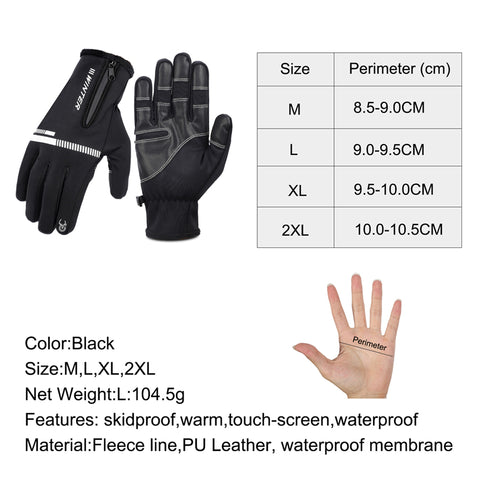 New Fashion Black Men/'s 3-Lines Winter Warm TOUCH SCREEN Gloves PU Leather