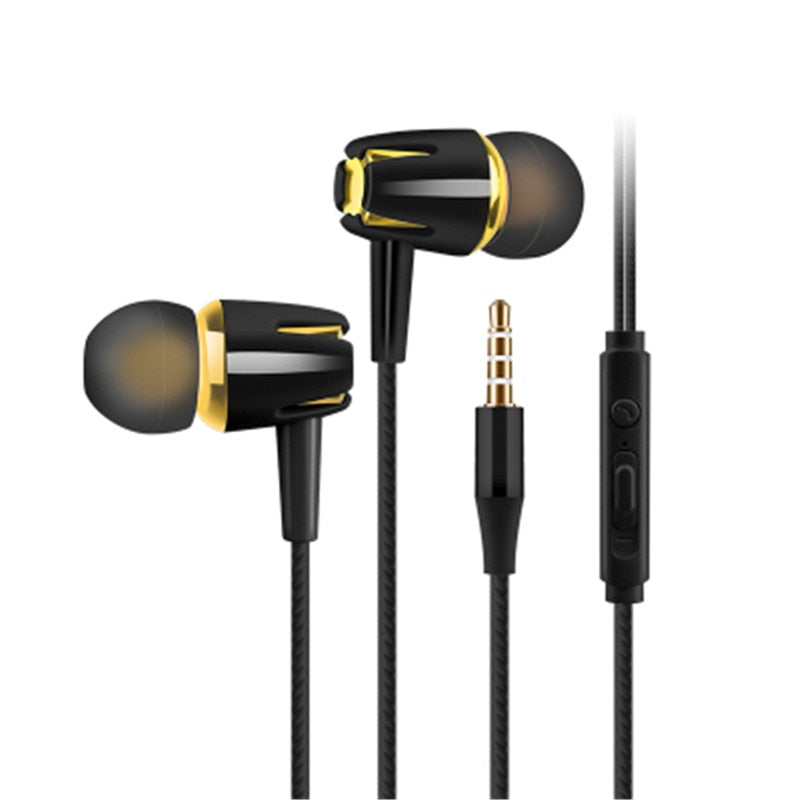 Wired Earphone 3.5mm In-Ear Subwoofer Stereo Music Sport Headset With Microphone For Xiaom Huawei Samsung For Android Phone