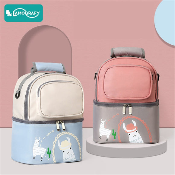 New Waterproof Breast Milk Nursing Bag Cooler Bags Double Layers Baby Bottle Thermal Insulated Bags for Mother Travel Baby Bag