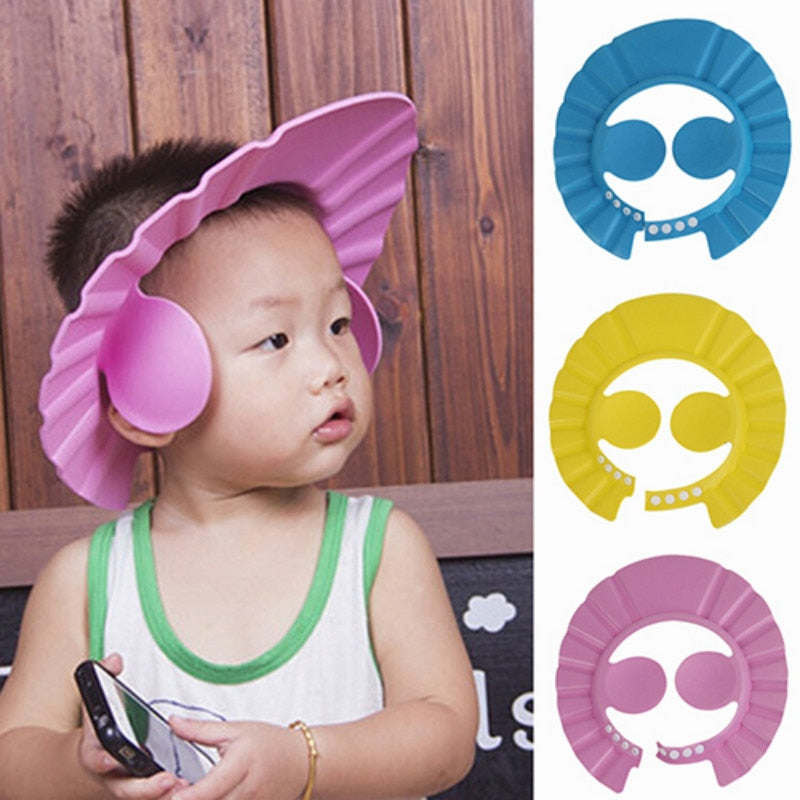 1 Pcs Adjustable Baby Kids Shampoo Shower Caps Babies Bathing Bath Protect Ear Wash Hair Cap Hat