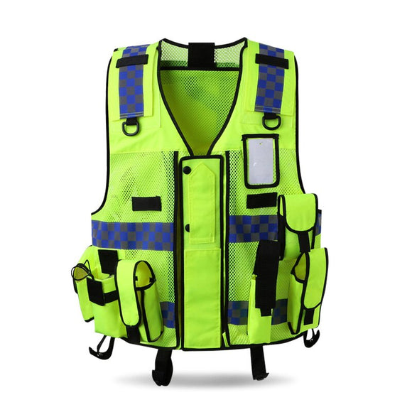 Cycling Safety Vest Hiking Vest With Pockets Hi Vis Workwear Night Fishing Vests For Men