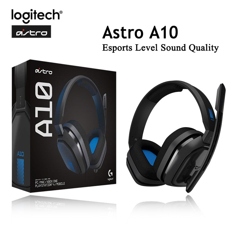 New Logitech Astro A10 Wired Headset Esports Headphoes 7.1 Virtual surround sound with MIC Gaming Earphone for PS4 and PC CSGO