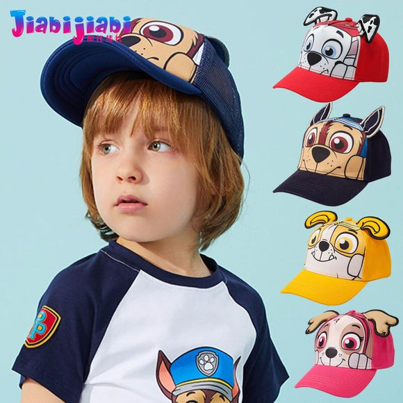Takes Baby Summer Hat Kids Boy Sunshade Baseball Cap Girl Toddler Beach Cap Children PAW Patrol 3D Stereo Sun Visor Cap 2-8 Old