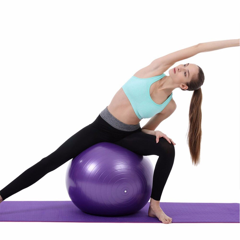 55/65/75cm Balance Ball Laputian Yoga Ball Durable PVC Fitness Woman Body Sharper Health Care Exercise Equipment