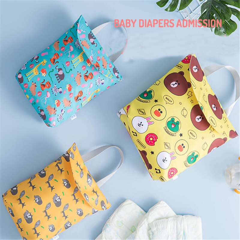 Baby Diaper Bag Portable Multifunctional Waterproof Wet Dry Bag Washable Reusable Travel Storage Bag Wholesale Baby Care