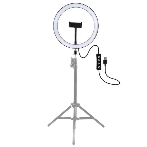 26/30cm Photography LED Selfie Ring Light USB Dimmable Camera Phone Ring Lamp Ring Lights For Makeup Video Live Studio