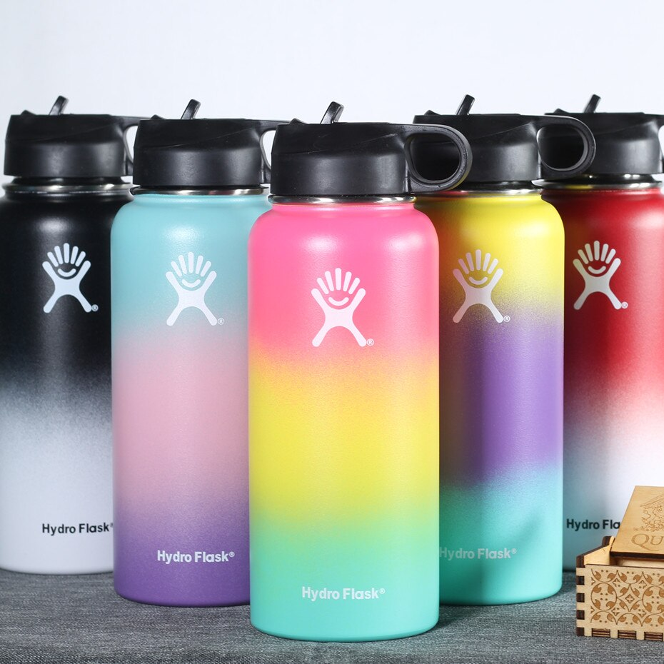 Stainless Steel 18OZ 32OZ 40OZ Water Bottle Hydro Flask Outdoors Sports Wide Mouth Vacuum Insulated Thermal Tumbler Bottle