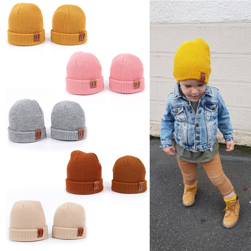 1/2pcs Winter Parent-child Hats Mom Dad Women Man Toddle Kids Baby Boy Girl Winter Warm Caps Knit Beanie Hat Adults Kids Caps
