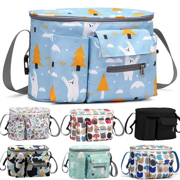 Baby Diaper Bags Outdoor Mummy Travel Hanging Carriage Bag Large Capacity Nappy Changing Bags Baby Care Stroller Organizer