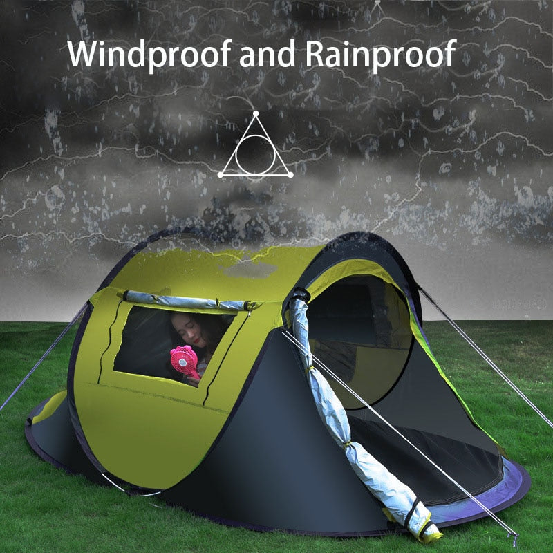 3-4 People Fully Automatic Free to Build Quickly tents for events Outdoor fishing winter Hiking Camping Tent