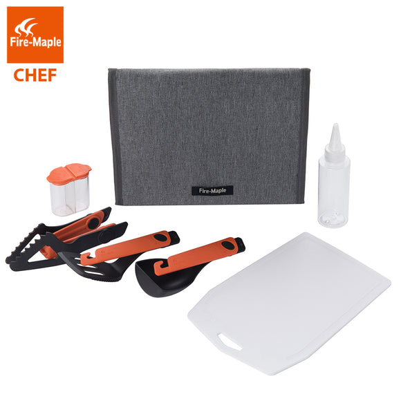 Fire Maple Chef Cooking Utensil Kit Outdoor Car Camping Tableware Set With Spoon Spatula Clip