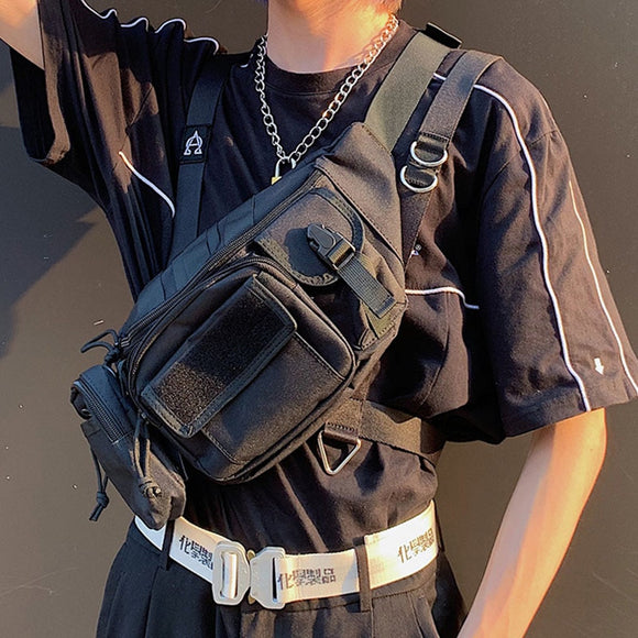 Streetwear Chest Bag Functional Tactical Chest Rig Bags Waist Packs The Trend Of Hip-Hop Men Crossbody Chest Pack Shoulder Bag