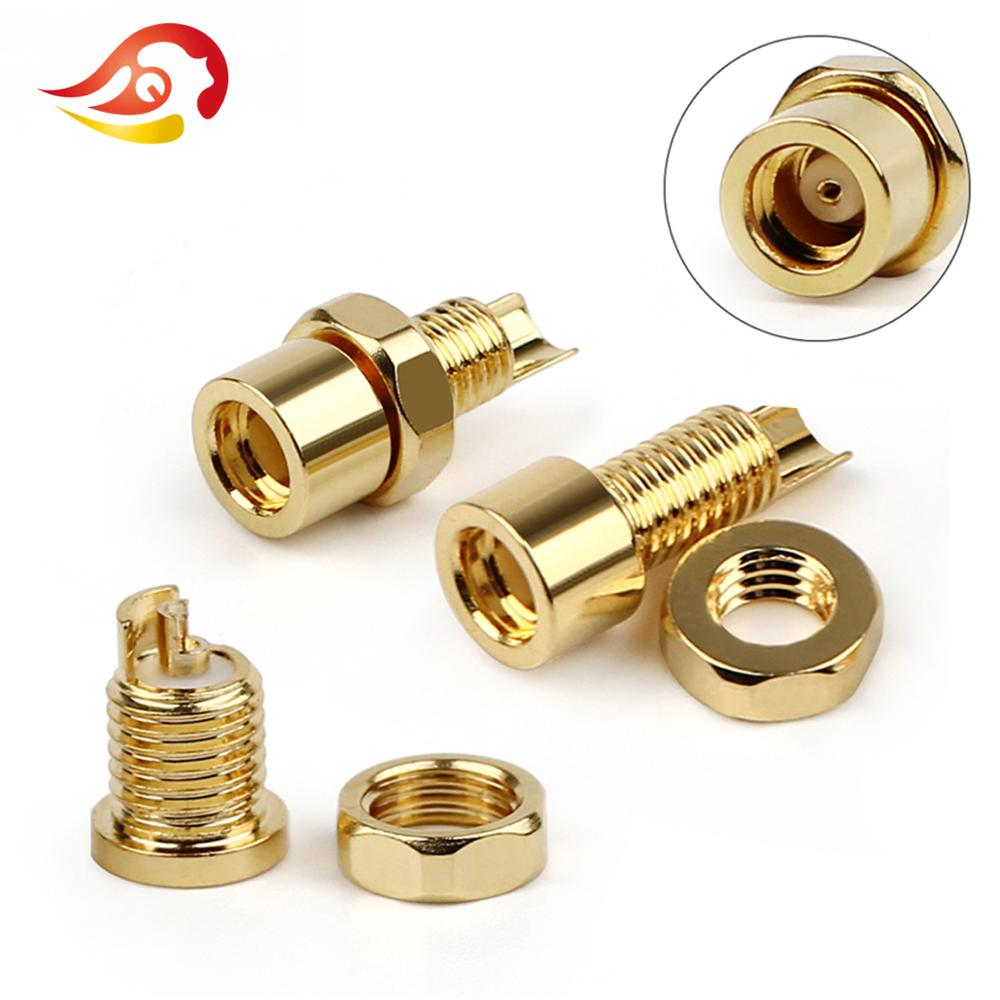 100pcs Brass 4mm Banana Female Jack to M3 Male Screw Connector Adapter 3 colors