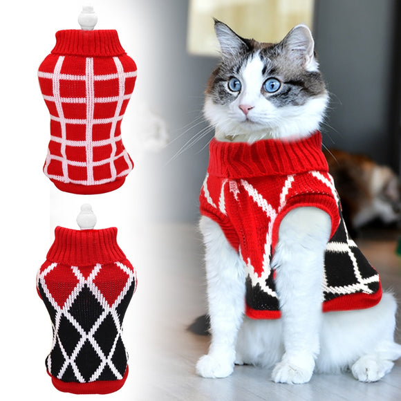 Cute Cat Sweater Costume Winter Warm Pet Clothes Dog Clothes Cat Clothing for Cats Small Dogs Pets Products for Chihuahua