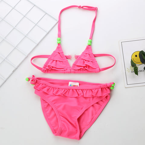 FASHION Boys and Girls Cartoon Swimsuit 2 pecs Sets RS