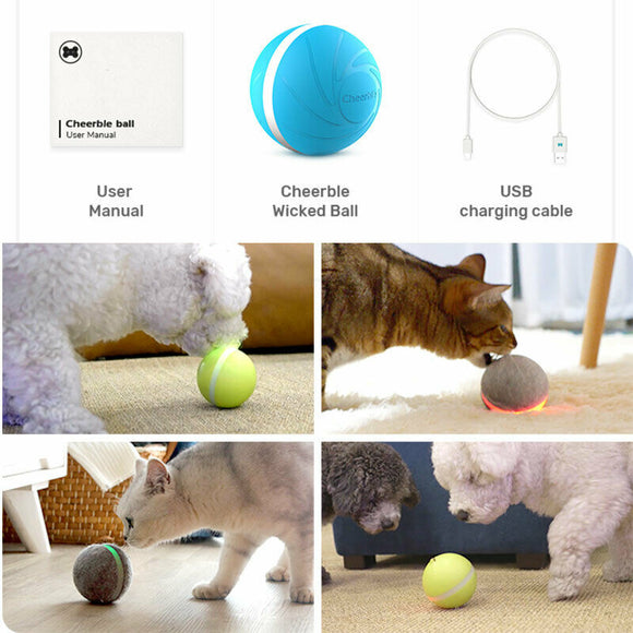 2019 Newest USB Pet Dog Cat Jumping Activation Ball LED Light Flashing Bouncing Ball Puppy Toy 3 colors optional