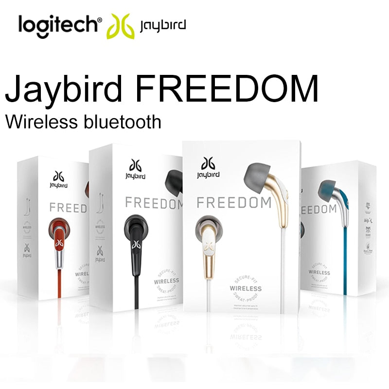 Original Logitech Jaybird Freedom F5 Wireless Bluetooth Sports Earphone Handsfree HiFi In-Ear Hearset 8 Hour For Android iPhone