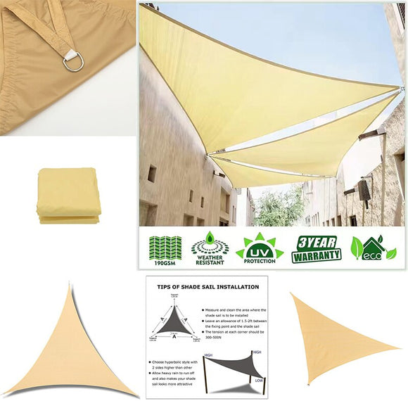 21 Color Triangular Waterproof Oxford Shade Sail Garden Terrace Canopy Swimming Sun Shade Outdoor Camping Yard Sail Awnings